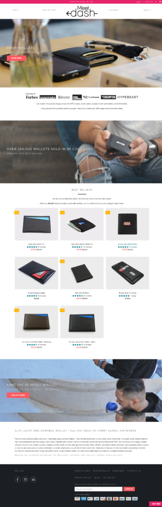 Dash Wallets Modern Slim, Thin, Minimalist Wallets