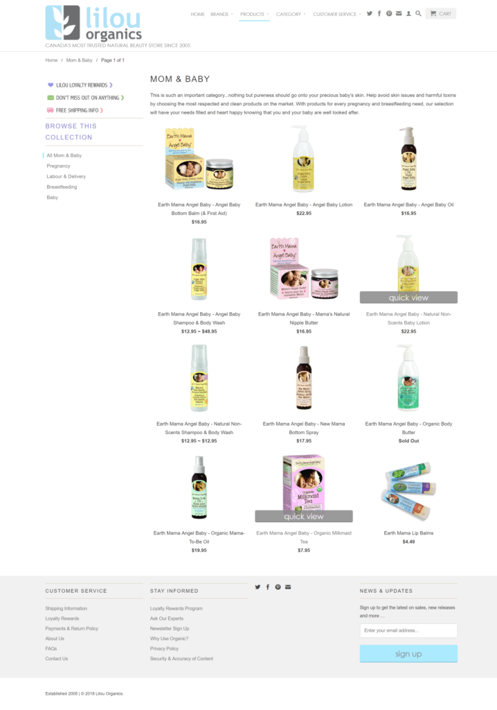 Lilou Organics - Products