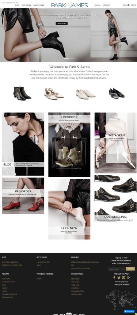 Park James, designers of women_s flat shoes