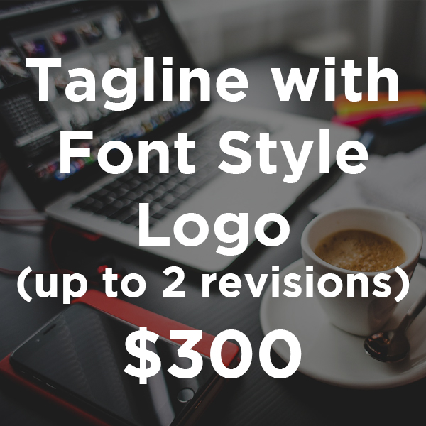 Tagline with Font Style
