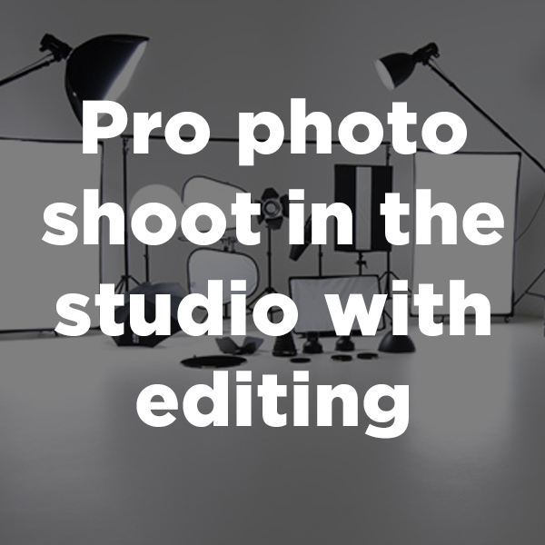 Pro photo shoot in the studio with editing